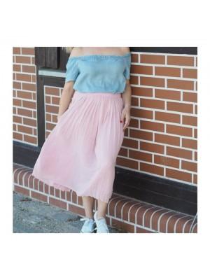 Spodnica plisowana pink