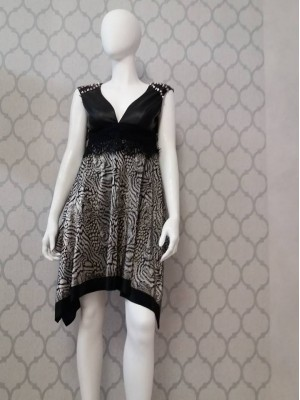 Sukienka silver black